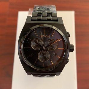 "Nixon ""Time Teller Chrono"" Black & Gold Watch"